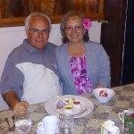 My husband and I at Cafe Miro..