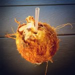 Coconut water.