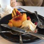 grilled peaches with vanilla bean ice cream for dessert