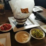 House made tortilla chips with dip trio
