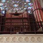 Organ bellows and stain glass windows
