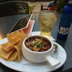 Chili and cold beer