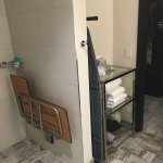 King bed, handicapped accessible shower (No tub, but I can still sit to shave my legs! Little th