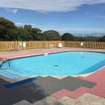 Outdoor heated swimming pool with views across our beautiful rural countryside
