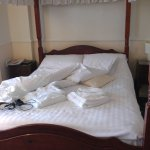 Lovely comfortable four poster bed