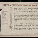 Replica Cheif Johnson Totem Pole