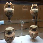 Some of the Etruscan amphorae on display