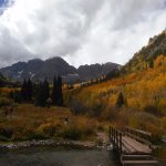Maroon Bells in September, cool breeze and plenty of sunshine. Love this place.