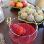 panna cotta et fruits frais du petit déjeuner