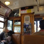That Classic Vintage interior of the tram