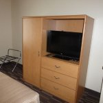 Television and closet unit.