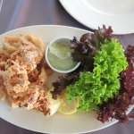 Fresh crispy calamari