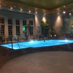 Warm 24 hour indoor pool is a nice touch