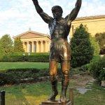 "Statue of "" Rocky Balboa "" Sylvester Stallone"