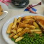 half a cow pie and chips