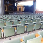 The stage and seating