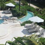 Very clean pretty pool and garden areas. Landscaped very nice! Lots of chairs, space to read or