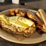 Crab cake omelet