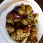 Unique app of assorted Wood roasted Olives
