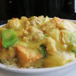 Nicely executed and tasty Baked Portuguese Chicken Rice