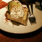 Key lime pie. . .tangy and creamy.