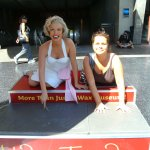 Marilyn's paving slab is outside Tussauds, not the theatre