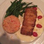 Calamari, eggplant, seafood salad, mustard salmon.....