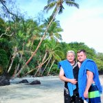 Scott & Kirt at the Beach on Royal Davui Island