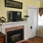 Fireplace, tv with DVD player, Closet