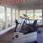 Three pieces of equipment provided for guest use: stationary bicycle, eliptical machine, treadmi
