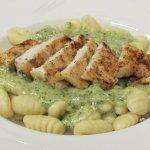 Gnocchi Al Dominic - garlic pesto alfredo and freshly grilled chicken
