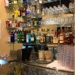 Fairly well-stocked bar