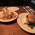 sliders & truffle parmesan fries