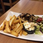Quality home cooked Burger with chips coleslaw and salad generous portion and Very tasty worth a