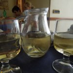 Our wine came, ice-cold, and attractively served