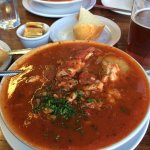 """Voluptuous"" bowl of cioppino. That's how our server described it. She spilled not a single drop"