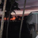 levée de soleil vue sur la plage de ma chambre