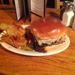 Swiss, sauteed onion, mushroom burger