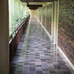 Walkway to room