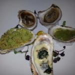 Oysters 5 ways.