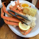Crab Legs and Shrimp Dish