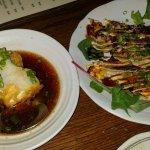 Late night happy hour, Agedashi tofu and Osaka style Ika Yaki