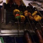 Barbeque grill on table