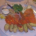 Truite saumoné, patates, lentilles corail