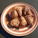 Pork Trotters - is a delicious meat from pig legs served with Pap