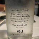 Agua del grifo: 2, 50 €