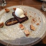 Delicious brownie with ice-cream & cinder toffee
