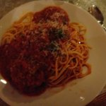 the spaghetti and meatballs