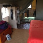 Inside the sleeping tents