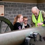 Showing Kids How a Cannon is Operated